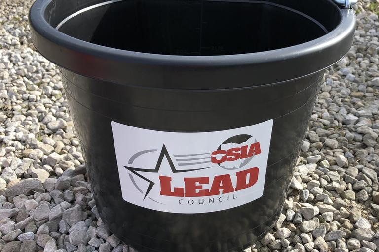 Black LEAD Bucket