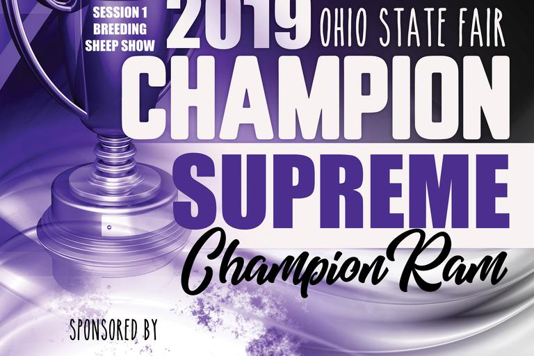 Supreme Champion Ram Banner 2nd Session