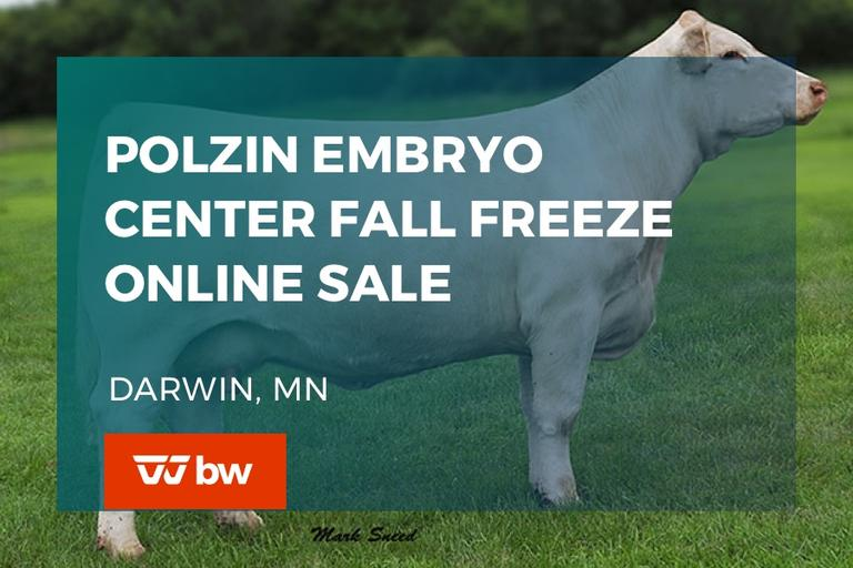 Polzin Embryo Center Fall Freeze Online Sale - Minnesota