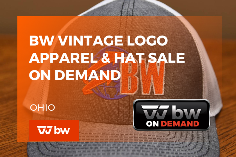 BW Vintage Logo Apparel and Hat Sale On Demand Only - Ohio
