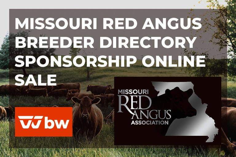 Missouri Red Angus Breeder Directory Sponsorship Online Sale - Missouri