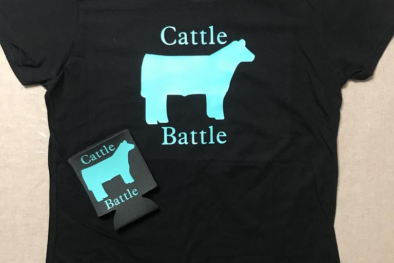 Cattle Battle Tshirt & koozie