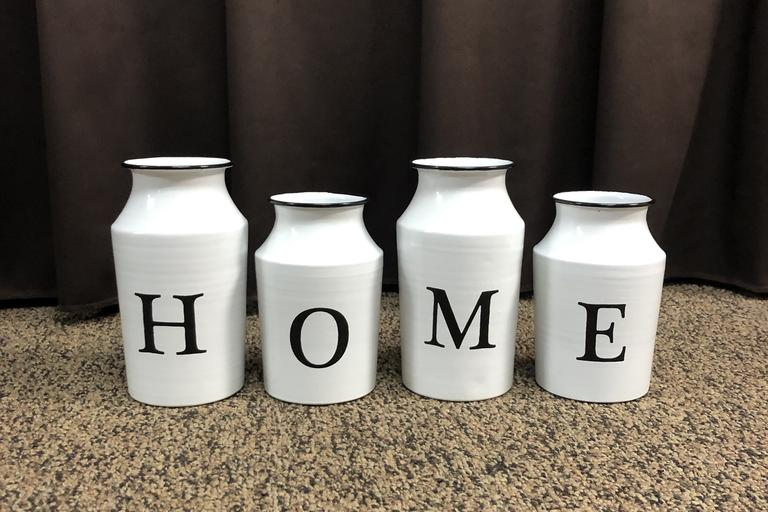 Decorative Milk Jars